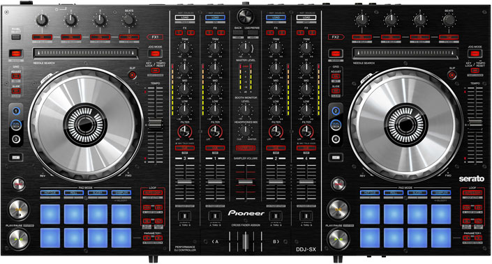 Integrated DJ mixer and controller