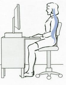 Best posture when sitting