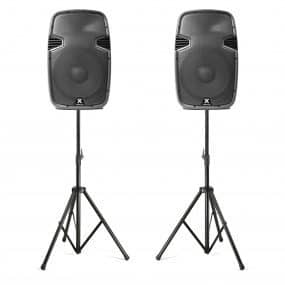 Disco speakers on tripods