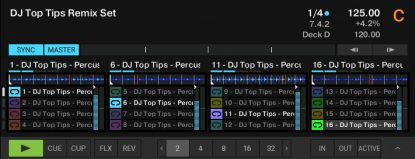 Percussion loops for DJ use